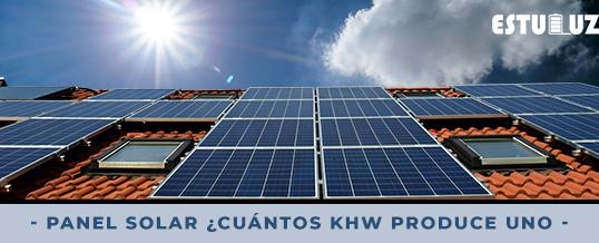 Panel solar: ¿Cuántos kHw produce uno?